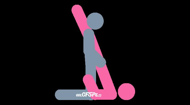 Shoulder Stand: Kneeling Sex Position Illustration with G-Spot Stimulation