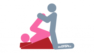 Plow 2: Kneeling Sex Position Illustration Using a Sex Pillow