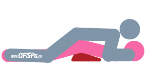 Flatiron: Husband-On-Top, Rear-Entry Sex Position Illustration Using Sex Pillow