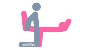 Pilates Class: Kneeling, Rear-Entry Sex Position Illustration
