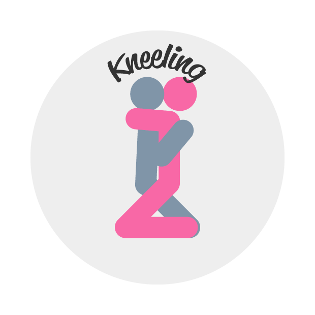 Kneeling Sex Position Illustrations