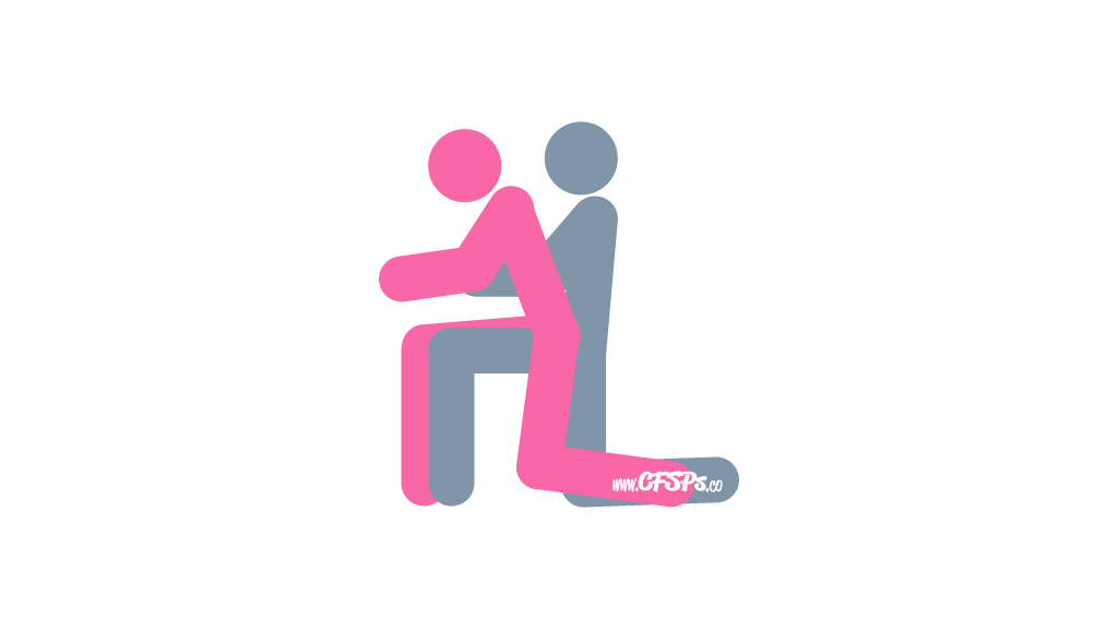 No Elbows On the Table Sex Position Illustration